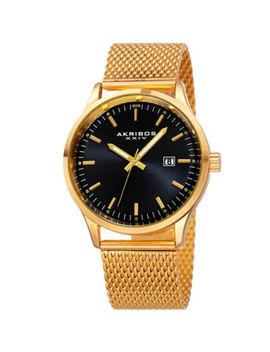 Akribos Xxiv Mens Gold Tone Bracelet Watch A 901ygb by Akribos Xxiv