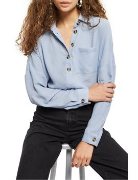 Casual Woven Shirt by Topshop