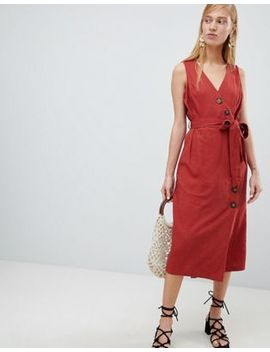 New Look Button Side Midi Dress by New Look