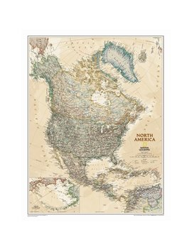 National Geographic Maps North America Executive Wall Map by National Geographic Maps