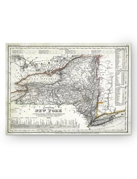 Wexford Home 'vintage New York Map I' Graphic Art Print On Wrapped Canvas by Wexford Home