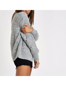 Grey Knitted Cardigan by River Island