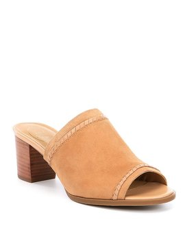 Campbell Suede Block Heel Mules by Generic