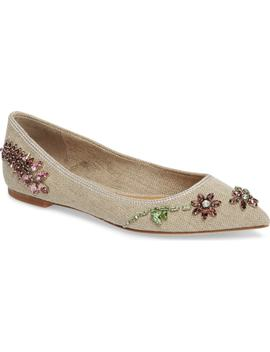 Meadow Embellished Pointy Toe Flat by Tory Burch
