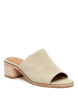 Cindy Suede Block Heel Mules by Generic