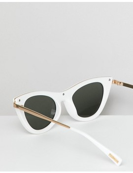 Le Specs Enchantress Cat Eye Sunglasses In White by Le Specs