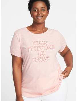 Graphic Slub Knit Every Wear Plus Size Tee by Old Navy