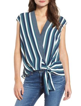 Stripe Wrap Top by Trouve