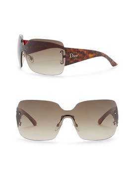 Square 75mm Sunglasses by Christian Dior