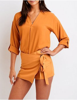 V Neck Tunic Top by Charlotte Russe