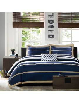 Mi Zone Garrett Navy Printed Mini Comforter Set by Mi Zone