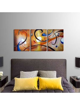 Clay Alder Home Happiness Abstract' Hand Painted Gallery Wrapped Canvas Art Set by Clay Alder Home