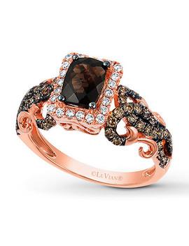 Le Vian Chocolate Quartz Ring 5/8 Ct Tw Diamonds 14 K Gold by Kay Jewelers