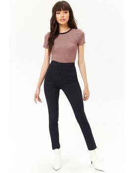 Pinstriped Skinny Pants by Forever 21