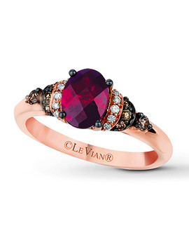 Le Vian Rhodolite Garnet 1/6 Ct Tw Diamonds 14 K Gold Ring by Kay Jewelers