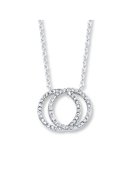 Circle Necklace Crystals Sterling Silver by Kay Jewelers