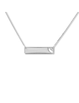 """California Bar Necklace Sterling Silver 16"""" 18"""" Adjustable by Kay Jewelers"""