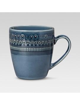 15.5oz Kingsland Stoneware Mug Blue   Threshold™ by Threshold™