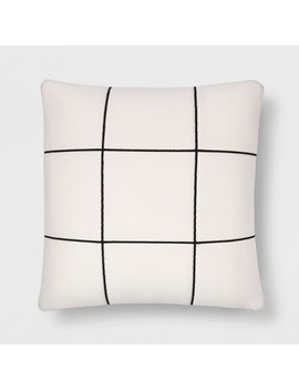 Black And White Quilted Throw Pillow   Room Essentials™ by Room Essentials™