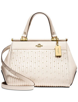 Grace Bag With Rivets Medium Satchel by Coach