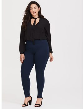 Slim Fix Pixie Pant   Blue Ponte by Torrid