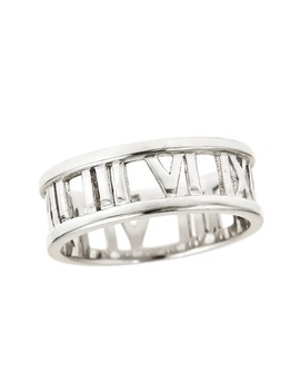 Sterling Silver Roman Numeral Band Ring by Sterling Forever