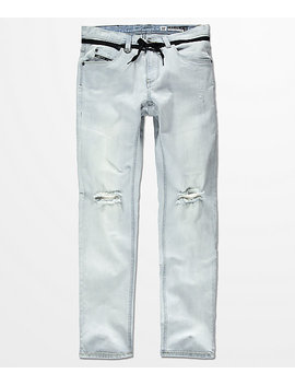 Empyre Skeletor Light Aged Ripped Skinny Fit Jeans by Empyre