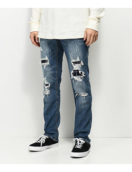 Empyre Skeletor Adams Ripped & Patched Jeans by Empyre