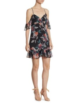 Silk Printed Off The Shoulder Dress by Love Shack Fancy