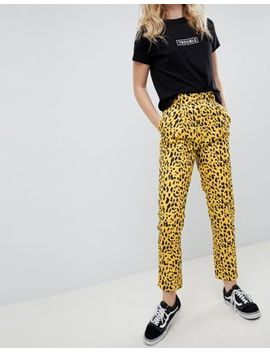 Daisy Street Straight Leg Pants In Animal Print by Daisy Street