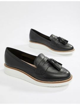 Aldo Leather Chunky Sole Tassel Loafers by Aldo