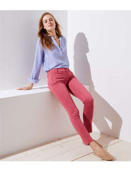 Petite Skinny Zip Pocket Sateen Pants by Loft
