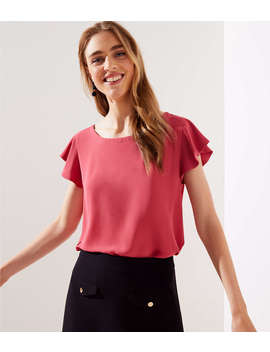 Petite Double Bar Back Top by Loft