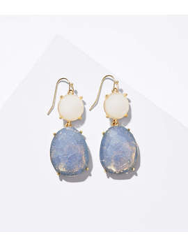 Double Stone Drop Earrings by Loft
