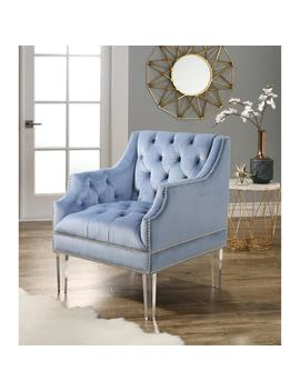 Abbyson Tampa Tufted Velvet Chair With Acrylic Legs by Abbyson