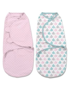 Swaddle Me® Original Swaddle 2pk   Whales/Pink Stars (S, 0 3mo) by Swaddle Me
