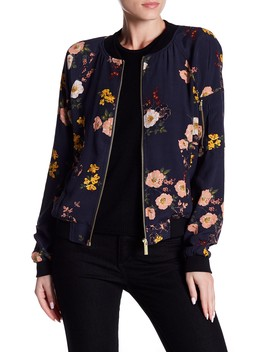 Woodlands Floral Print Bomber Jacket by Sanctuary