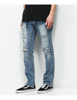 Empyre Skeletor Simon Distressed Skinny Jeans by Empyre