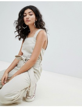 Weekday Wide Leg Jumpsuit With Tie Waist by Weekday