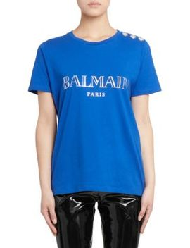 Balmain Paris Cotton Tee by Balmain