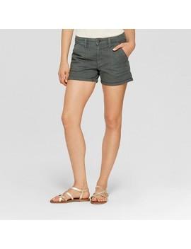 Women's High Rise Midi Utility Shorts   Universal Thread™ Dark Wash by Universal Thread™