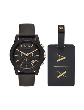 Boxed Chronograph Silicone Strap Watch Gift Set, 45mm by Ax Armani Exchange