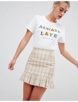 Daisy Street Tailored Skirt In Vintage Check by Daisy Street