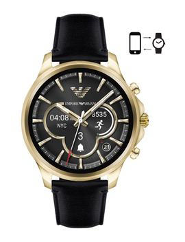 Touchscreen Leather Strap Smartwatch, 46mm by Emporio Armani