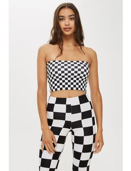 Checkerboard Bandeau by Topshop