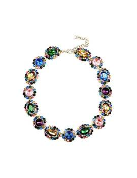 Eye Candy La 14 Inch Multicolor Sweet Treat Stone Wreath Necklace by Generic