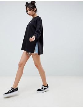 Asos Design   Sweat Shirt Léger Super Oversize   Noir by Asos Collection