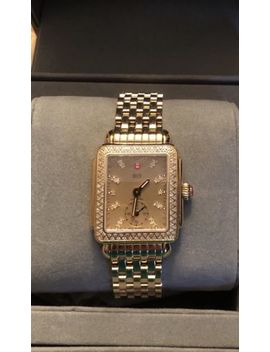 Michele Deco 16 Gold Tone Diamond Dial And Bezel Watch   Very Rare by Michele