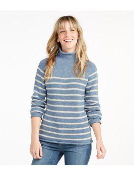 Cottage Cotton Sweater, Funnelneck Stripe by L.L.Bean
