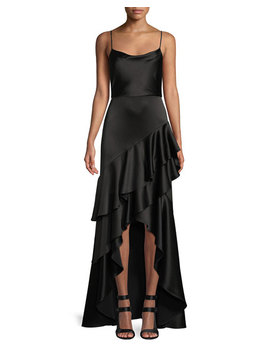 Lauralei Ruffle High Low Gown by Alice + Olivia